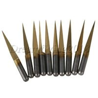 10x 20° 0.1mm Carbide Engraving Bits CNC Router Tool 3.175mm Shank for PCB Board