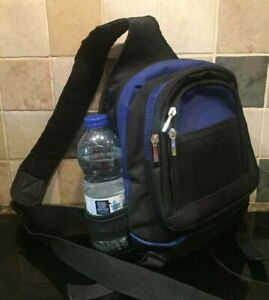 GELERT Compact Back Pack Single Strap Cross Body Black Blue Adult Child