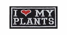 I Love my Plants Aufnäher Heavy Biker Rocker Patch Motorrad Kutte Badge Stick
