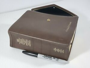 Brown  Leather Mormon Quad LDS Scriptures Holy Bible Tabs Standard 1b