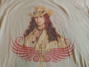 Vintage CHER, Living Proof, 2003 Concert Tour,  T-Shirt , XL BEIGE, 200% COTTON