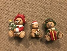Homco Christmas Bears Figure Set 5175