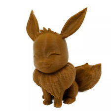 Pokemon Eevee Figurine 3d Printed Brown Action Figure Toy 2.5""