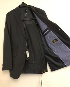 Camp David € 578, Luxus Herren Anzug Classic Fit Sakko Hose 100% Schurwolle