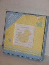 Carters Ribbon Hanging or Easel Back Keepsake Baby Announcement Duck Duckie New