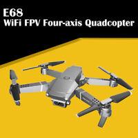 E68 Drone HD Wide Angle Camera FPV Video Recording Quadcopter Foldable RC Drone
