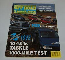 Off Road And 4 Wheel Drive Magazine January 1992 4x4 Of The Year Vitara