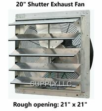 Commercial Wall Mount Shutter Exhaust Fan 20 Variable Speed Garage Shed Barn
