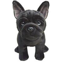 French Bulldog Stuffed Animal Black Dog Cute Soft Cuddly Toy Realistic Plush