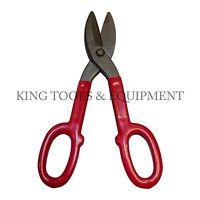 """New KING 10"""" Straight Cut Pattern Tin Snips, Sheet Metal Cutter Scissors, Steel"""
