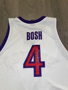 Reebok CHRIS BOSH Signed Autographed AUTHENTIC Raptors Basketball Jersey OVO 52