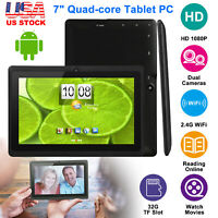 """2019 New Android 7"""" 9""""Tablets PC Quad Core HD 8GB Dual Camera WiFi Multi-touch"""