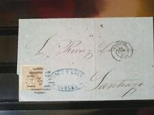 España Envuelta circulada GALICIA La Coruña- Santiago 1859 - edifil 96- Preciosa