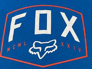 FOX Mens Size L - LARGE - BLUE T-shirt - FOX RACING