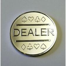 "Silver Plated Metal Dealer Button Poker Games Such As Texas Hold'em Sports "" &"