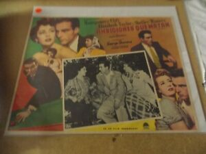 """A PLACE IN THE SUN(1951)ELIZABETH TAYLOR ORIGINAL MEXICAN LOBBY CARD 12""""BY16"""""""