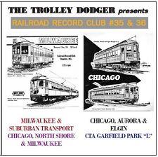 Milwaukee & Chicago Trolley Audio on CD - Railroad Record Club #35 & 36