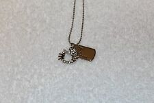 HELLO KITTY SMALL CHARM PENDANT NECKLACE CLEAR RHINESTONE CRYSTAL RHODIUM PLATED