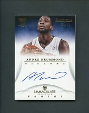2012-13 Immaculate Inscriptions Andre Drummond RC Rookie AUTO 53/99