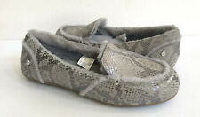 UGG HAILEY METALLIC SNAKE SILVER SHEARLING LOAFERS SHOES US 8.5 /EU 39.5 /UK 6.5