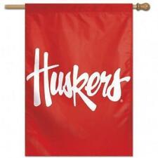 Nebraska Cornhuskers Text Logo Vertical Banner [New] Ncaa Flag Yard House Sign