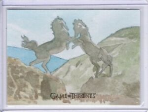 Game Of Thrones, The Complete, Sketch Card, Dothraki Horse Gate, Roy Cover