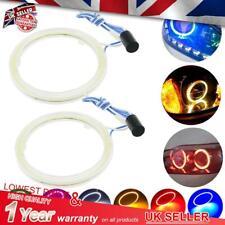 2 pc LED 60-120mm Angel Eye Headlight Fog Light COB AUDI Halo Ring fit Motor Car