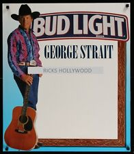 Original 1994 GEORGE STRAIT BUD LIGHT BEER Promo Poster FREE SHIPPING MAN CAVE