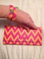Vera Bradley Trifold Wallet Ziggy Zags And Studded Wrap Bracelet Ziggy Zags NWT