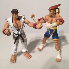 Capcom Street Fighter Ryu vs Adon Action Figure Lot Sota Toys Video Game Fight