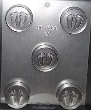 Baby Feet,Shower Cookie Candy Mold,Chocolate/Oreo,Clear Plastic, C/K Products