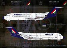 Hungarian Aero Decals 1/144 FOKKER 70 Malev Hungarian Airlines