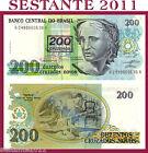 BRAZIL BRASILE, 200 CRUZEIROS SU 200 CRUZADOS NOVOS 1990 - P. 225b - FDS/UNC