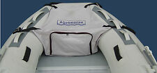 FRONT BOW STORAGE BAG FOR INFLATABLE BOAT fits 6.5 -12 ft GRAY