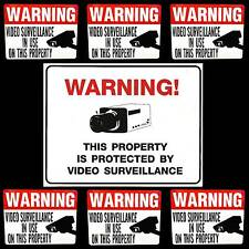 LOT OF VIDEO CCTV SECURITY CAMERA IN USE BURGLAR WARNING YARD SIGN+DOOR STICKERS