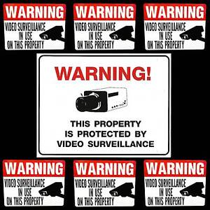 LOT VIDEO HOME STORE SECURITY CAMERAS BURGLAR WARNING SIGN+DOOR WINDOW STICKERS