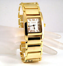 Retro Designer Bracelet Style Gold Plated Classic Gents Mens Dress Wrist Watch