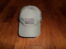 U.S American Flag Relaxed Ripstop Hat Cotton Polo OD Green Tonal Baseball Cap