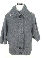 Element Sweater S Womens Gray Knit Cardigan Mohair Blend