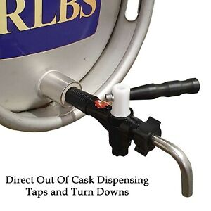 Cask Tap for Real Ale Beer Direct Dispensing - c/w Turn Down or Turn Down Only