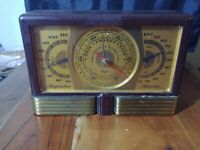 Vintage Taylor Brass Weather Station  Barometer Temperature  Humidity 1930s
