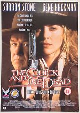 THE QUICK AND THE DEAD / ORIGINAL VINTAGE VIDEO FILM POSTER / SHARON STONE 4