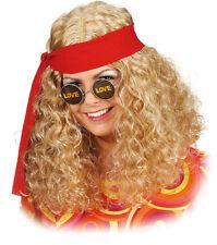 Hippie Damenperücke mit Band NEU - Karneval Fasching Perücke Haare