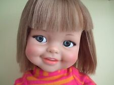 "Vintage 1960's Ideal 18"" Giggles doll in original outfit flirty eyes"