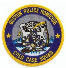 Boston Police Patch Homicide Cold Case Squad