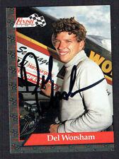 Del Worsham #70 signed autograph auto 1993 Finish Line NHRA Trading Card