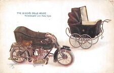 POSTCARD  CHILDREN  MOTOR  BIKE  Related  Queens  Dolls  House   TUCK