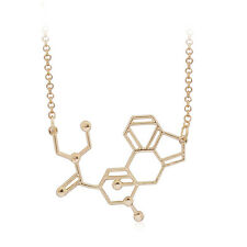 Reino Unido molécula DE LSD ácido Colgante Collar Dorado Joyería Idea de Regalo Biología Ciencia