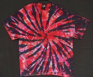 Handmade Unisex XL Tie Dye T-Shirt Gildan Crew Short Sleeve 100% Cotton Hot Pink