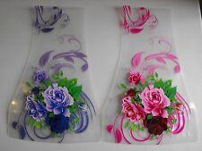 2 x plastic vase wedding party home office decor rose flower caravan table pvc